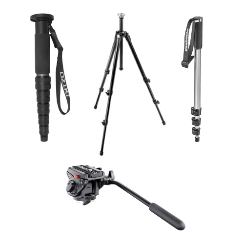Tripods, monopods and heads