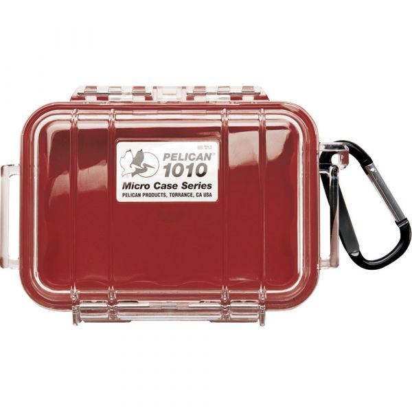 Pelican 1010 Micro Case (Clear Red with Colored Lining) 1010CWR Pelican 19.800000