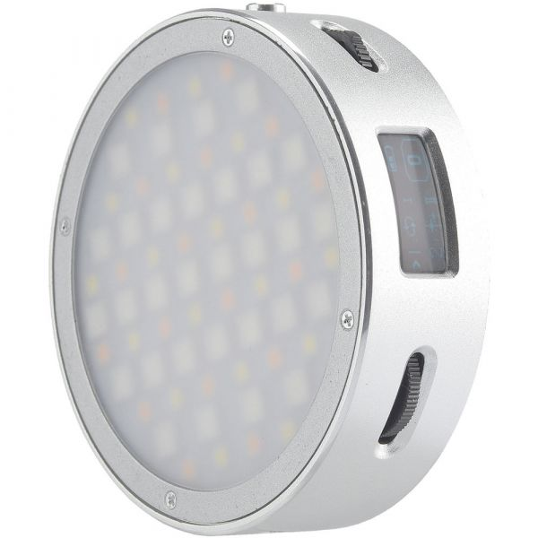 Godox Round Mini RGB LED Magnetic Light (Silver) 11.R1SILVER LED Panel 141