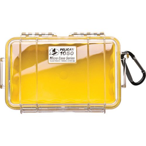Pelican 1050 Clear Micro Case (Yellow) 1050CWY Pelican 33.250000