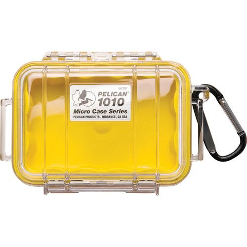Pelican 1010 Micro Case (Clear Yellow with Colored Lining) 1010CWY Pelican 40.460000