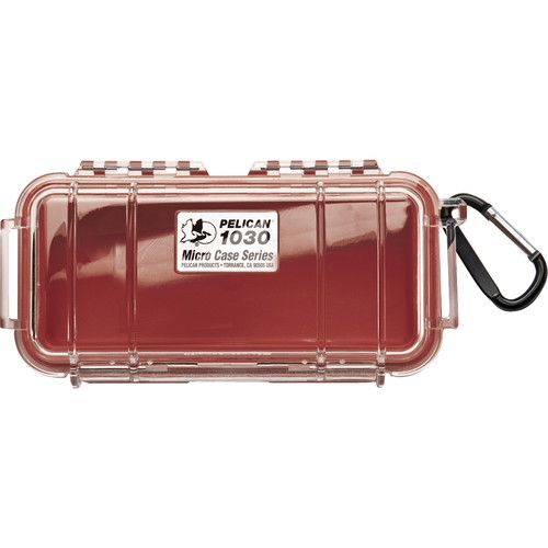 Pelican 1030 Micro Case (Clear Red with Colored Lining) 1030CWR Pelican 26.400000