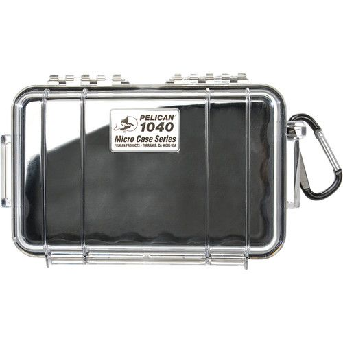 Pelican 1040 Micro Case (Clear Black with Colored Lining) 1040CWB Pelican 33.250000