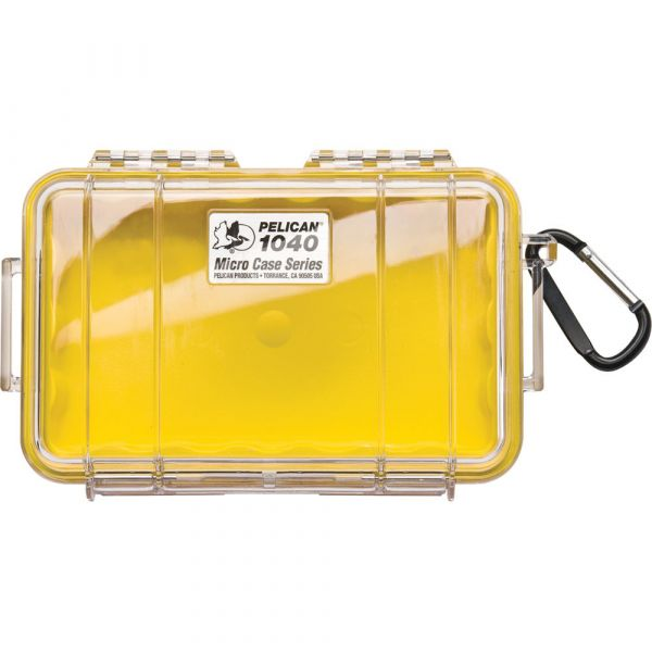 Pelican 1040 Micro Case (Clear Yellow with Colored Lining) 1040CWY Pelican 33.250000