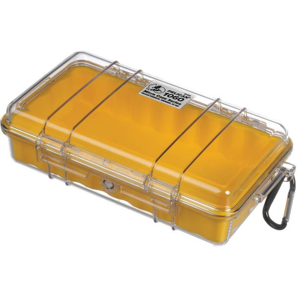 Pelican 1060 Clear Micro Case (Yellow) 1060CWY Pelican 36.000000