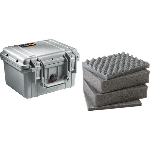 Pelican 1300 Case with Foam (Silver) 1300S Pelican 92.000000