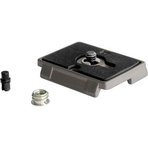 Manfrotto 200PL Quick Release Plate with 1/4 Inch Screw and 3/8 Inch Bushing Adapter 200PL Manfrotto 27.000000