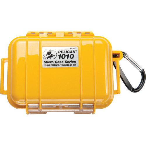 Pelican 1010 Micro Case (Solid Yellow with Black Lining) 1010YWB Pelican 24