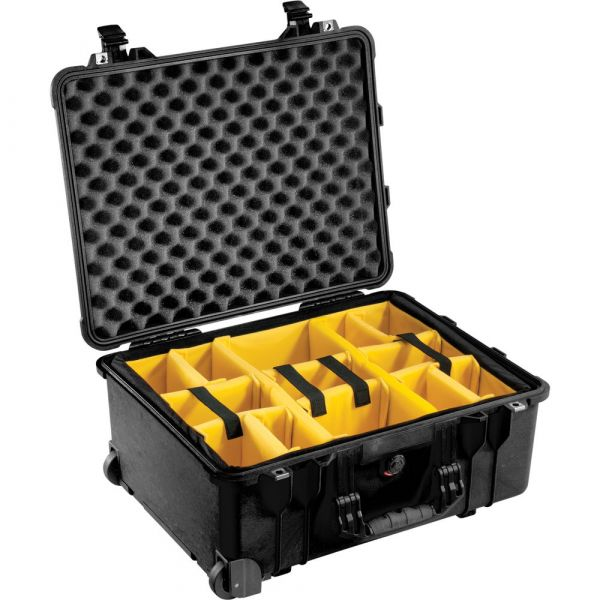 Pelican 1564 for the Waterproof 1560 Case with Yellow and Black Divider Set (Black) 1564BD Pelican 460.800000