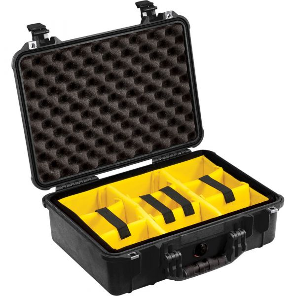 Pelican 1504 Waterproof 1500 Case with Yellow and Black Divider Set (Black) 1504BD Pelican 279.200000