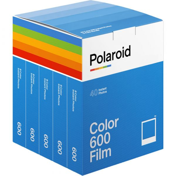 Polaroid Color 600 Instant Film (5-Pack, 40 Exposures) 006013 Film and Consumables 150