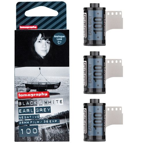 Lomography Earl Grey 100 B&W Film (35mm, 36 Exp., 3 Pack) F136BW3 Lomography 35