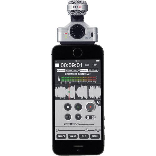 Zoom iQ7 Mid-Side Stereo Microphone for iOS Devices with Lightning Connector FXQ025 Zoom 172