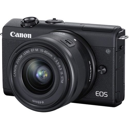 Canon EOS M200 Mirrorless Digital Camera with 15-45mm Lens (Black) M200KISBK Canon 718.200000