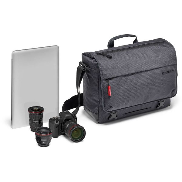 Manfrotto Manhattan Speedy-10 Camera Messenger Bag (Gray) MBMNMSD10 Manfrotto 161.040000