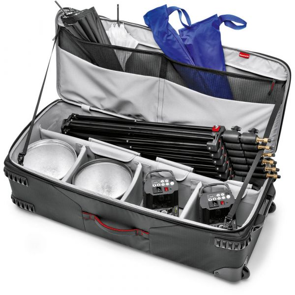 Manfrotto Pro-Light Rolling Lighting Gear Organizer V2 (Large, Black) MBPLLW97W-2 Manfrotto 652.880000