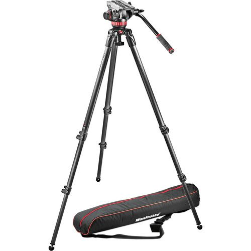 Manfrotto MVH502A Fluid Head and 535 CF Tripod System with Carrying Bag MVK502C-1 Manfrotto 1483.920000