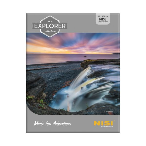 NiSi Explorer Collection 100x100mm Nano IR Neutral Density filter – ND8 (0.9) – 3 Stop 111785 Nisi 181.900000