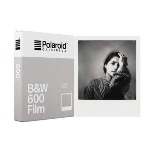 Polaroid B&W Film w/ White Frame for 600 Cameras - 8 photos 6003-1 Polaroid Film 39