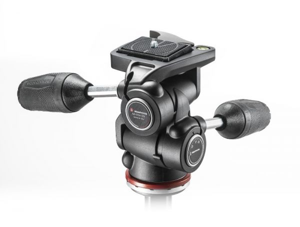 Manfrotto MH804-3W 3 Way Tripod Head Mark II in Adaptor with Retractable Levers MH804-3W Tripod Heads 123.250000