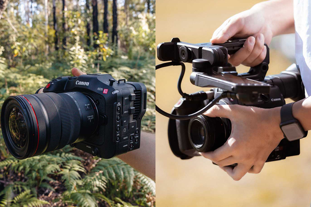 A comparison between the Canon C70 and Canon C200